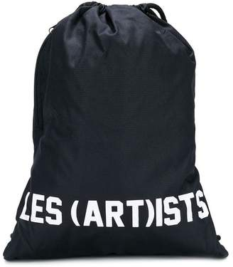 Les (Art)ists Kids logo print gym bag