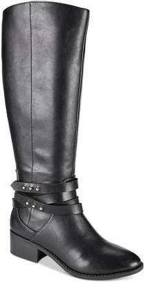 Material Girl Damien Tall Wide-Calf Boots, Created for Macy's Women's Shoes