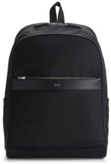 Hugo Boss Digital L Backp Nylon Backpack One Size Black $445 thestylecure.com