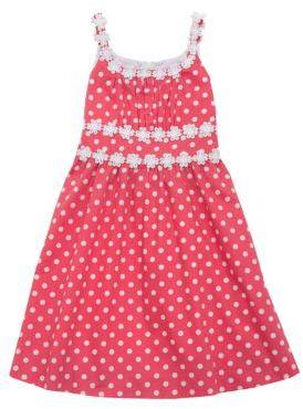 Rare Editions Girls 2-6x Polka Dot Dress