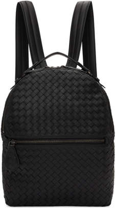 Bottega Veneta Black Intrecciato Backpack