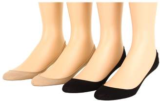 Hue Hidden Cotton Liner 4-Pair Pack Women's No Show Socks Shoes