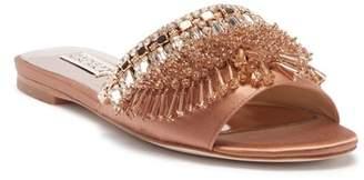 Badgley Mischka Kassandra Embellished Slide Sandal