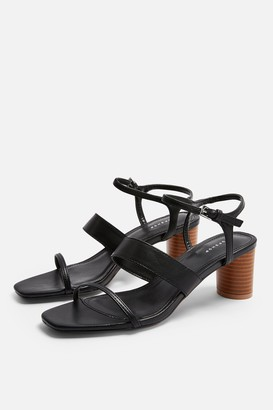 Topshop Womens Dita Black Strap Sandals - Black