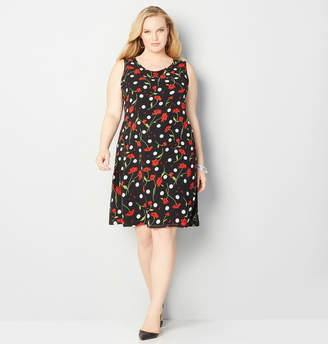 Avenue Floral Polka Dot A-Line Dress