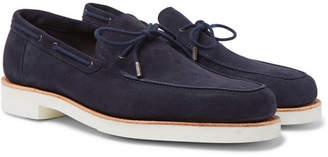 John Lobb Byrne Suede Loafers - Navy