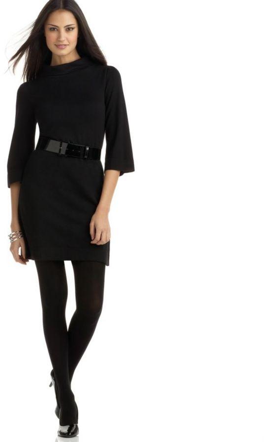 Alfani Funnel-Neck Sweater Dress