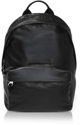 McQ Gothic Repeat Black Eco-Leather Classic Backpack