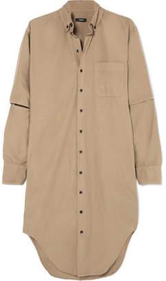 Bassike Cutout Cotton Shirt Dress - Tan