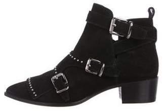 Barbara Bui Embellished Kiltie Suede Boots Black Embellished Kiltie Suede Boots