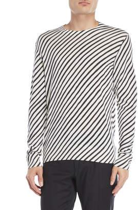 Dolce & Gabbana Silk Striped Pullover Sweater