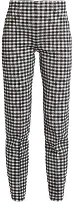 Sonia Rykiel Checked-knit high-waisted trousers