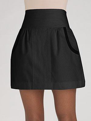 Geren Ford Stitch-Front Mini Skirt