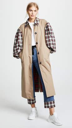 Isa Arfen Contrast Olivia Trench Coat