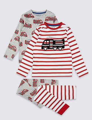 Marks and Spencer 2 Pack Transport Pyjamas (1-7 Years)