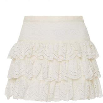 LoveShackFancy Alyssa Mini Eyelet Skirt
