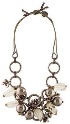 Stella McCartney Ball & Resin Bead Collar Necklace