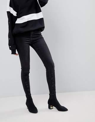 New Look Black Gemstone Embellished Skinny Jean