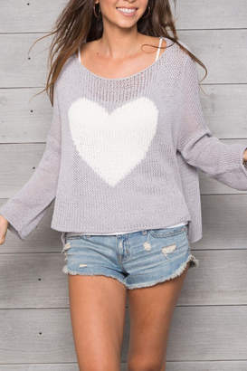 Wooden Ships Big Heart Sweater