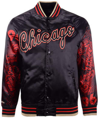 Mitchell & Ness Men Chicago Bulls Chicago 6 Ring Collection Satin Jacket