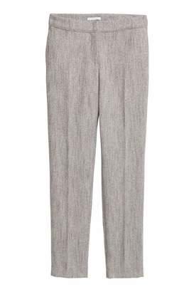 H&M Suit Pants - Gray/herringbone-patterned - Women