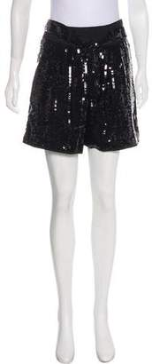 See by Chloe High-Rise Sequin Shorts