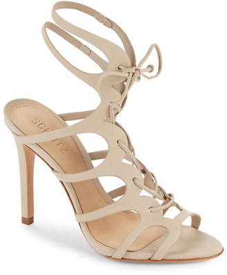 Schutz Laurine Leather Stiletto-Heel Sandal