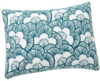 Pottery Barn Teen Gemma Floral Reversible Sham, Standard, Sea Blue