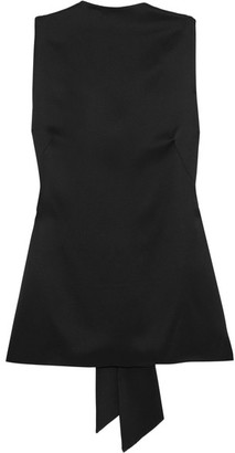 TOM FORD - Silk-satin Top - Black $1,890 thestylecure.com