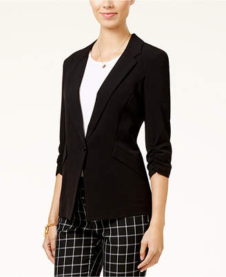 Bcx Juniors' Ruched-Sleeve Button-Front Blazer $39.98 thestylecure.com