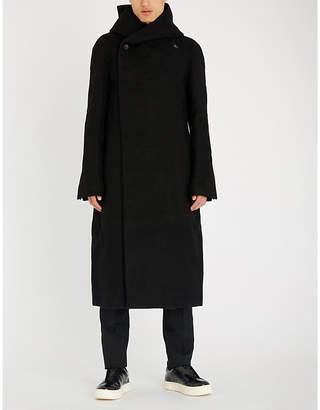 Rick Owens Liner wrap-front wool coat
