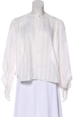 Rachel Zoe Long Sleeve Ruffle-Accented Top