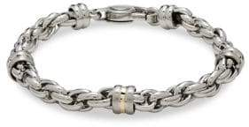 Saks Fifth Avenue 14K Gold Silver & Stainless Steel Link Chain Bracelet