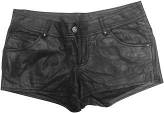 Urban Outfitters Black Leather Shorts for Women