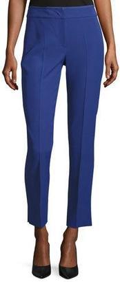 Armani Collezioni Techno Cady Ankle Pants, Blue Violet $525 thestylecure.com
