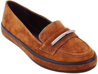 Halston H By H by Suede Slip-On Shoes with Hardware Detail - Brynn