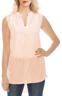Vince Camuto Tonal Contrast Striped Sleeveless Top