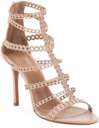 Alaia Vienne Cutout Caged Sandals