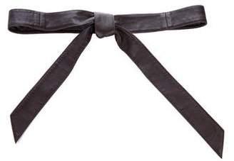 Oscar de la Renta Leather Wrap Belt