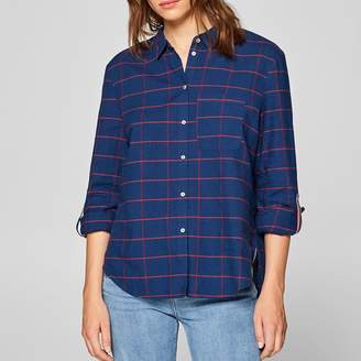 Esprit Checked Shirt with Three-Tone Buttoned Placket