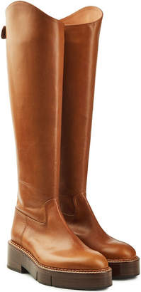 Rob-ert Robert Clergerie Canada Leather Knee Boots