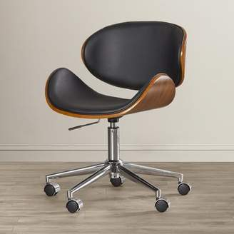 Sunpan Modern Urban Unity Quinn Mid-Back Leather Office Chair