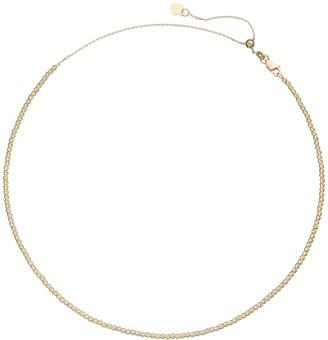 14k Gold Beaded Choker Necklace