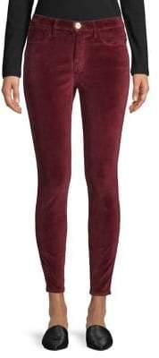 Frame High-Rise Skinny Velveteen Jeans