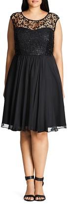 City Chic Sparkle Love Dress $149 thestylecure.com