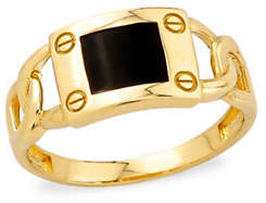Tag Heuer FINE JEWELLERY 10K Yellow Gold Onyx Ring