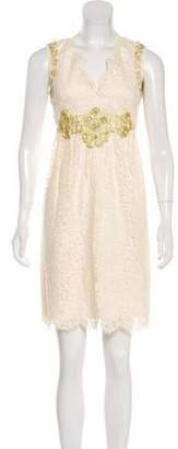 Anna Sui Lace Mini Dress Lace Mini Dress