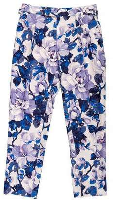 Tom Ford Silk-Blend Floral Print Pants