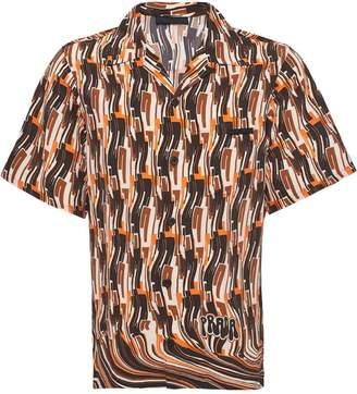 Prada short-sleeved pongé shirt