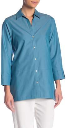 Foxcroft Daniela Long Sleeve Solid Blouse